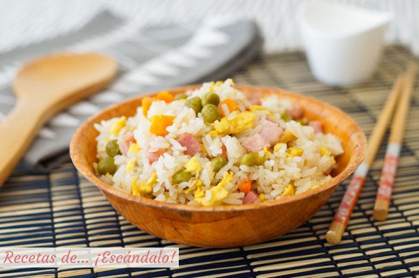 Receta de arroz tres delicias con trucos para un arroz perfecto