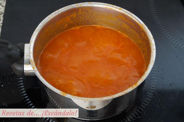 Receta de salsa americana, muy facil e ideal para pescados y mariscos