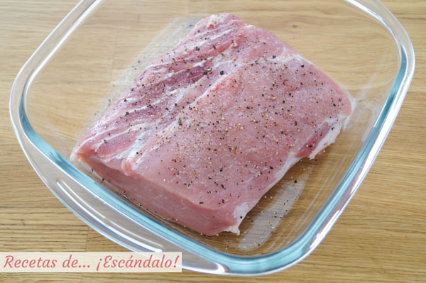 Lomo de cerdo fresco