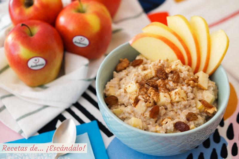 Porridge De Avena O Gachas De Avena Con Manzana Y Canela Recetas