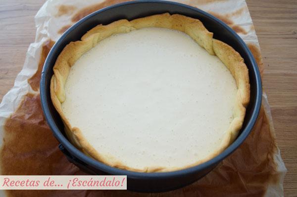 Tarta de queso al horno casera