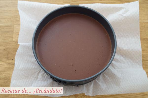 Como hacer la tarta de tres chocolates