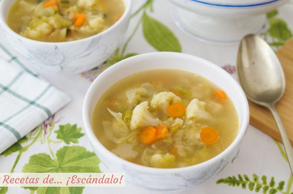 Receta de sopa de verduras casera