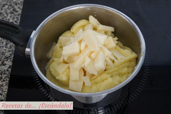 Receta de aligot o pure de patatas frances con queso