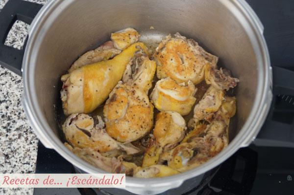 Receta de pollo guisado