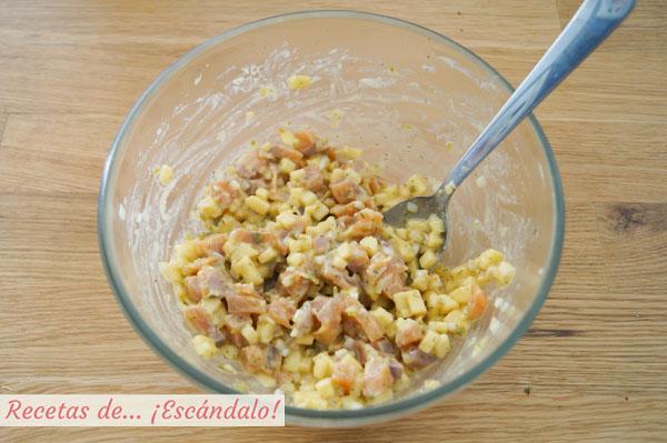 Receta de tartar de salmon y manzana a la mostaza
