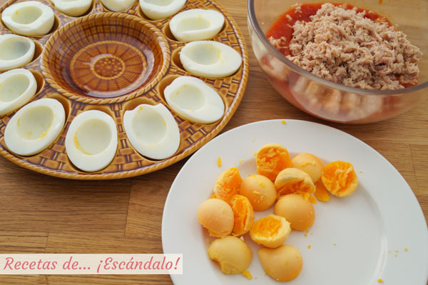 Como hacer huevos rellenos