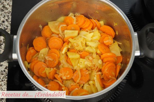 Ingredientes crema de zanahoria