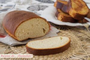 Receta muy facil de pan casero para hacer torrijas en casa