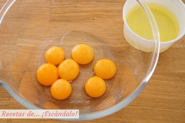 Yemas y claras de huevo
