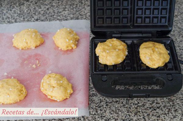 Gofres caseros o waffles