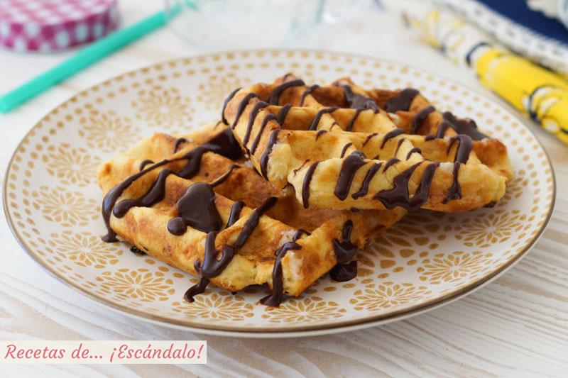 Gofres o waffles caseros. Como hacer una masa de 10 muy facil