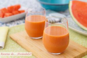 Receta de gazpacho de sandía, refrescante y de sabor suave
