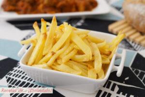 Cómo hacer patatas fritas al horno, muy ricas y sin apenas aceite