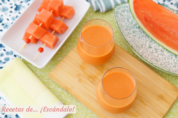 Receta de gazpacho de sandia, refrescante y de sabor suave