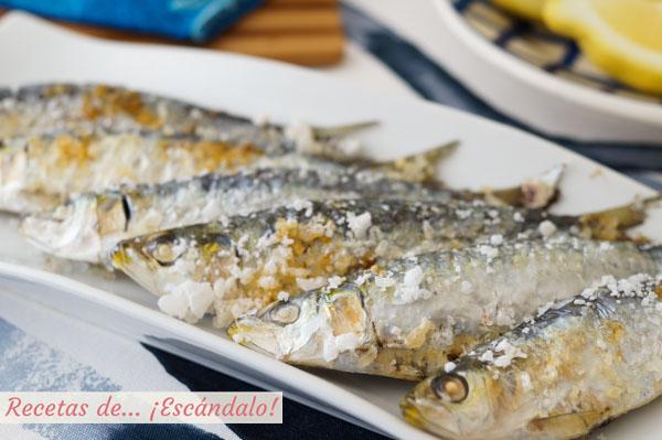 Receta de sardinas al horno, muy faciles y con trucos contra el olor