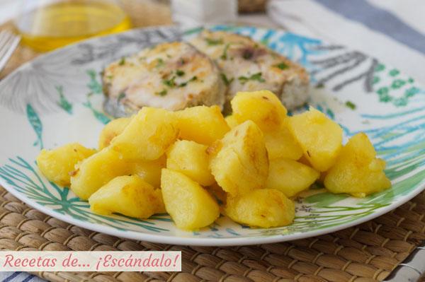 Receta de patatas al microondas y salteadas, la mejor alternativa a las patatas fritas