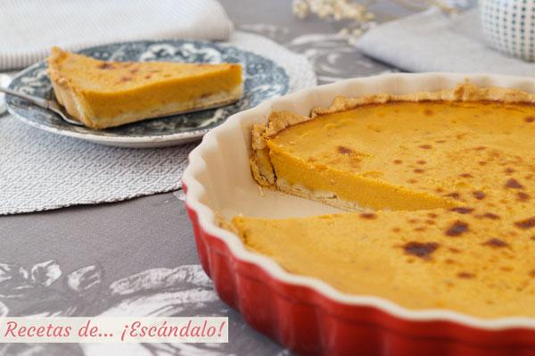 Como hacer el pastel o tarta de calabaza, la famosa tarta pumpkin pie americana