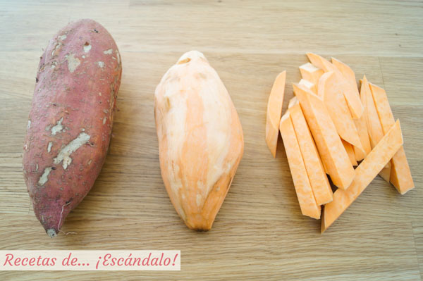Ingredientes boniatos al horno