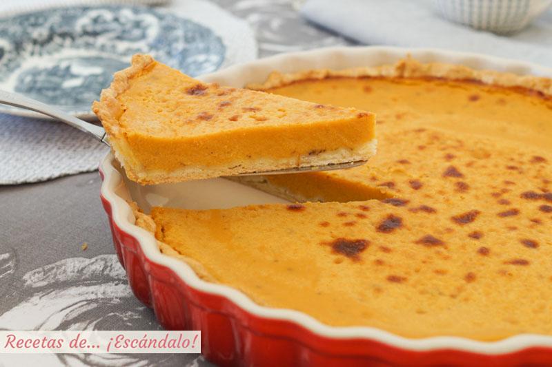 Pastel o tarta de calabaza, la famosa tarta pumpkin pie americana