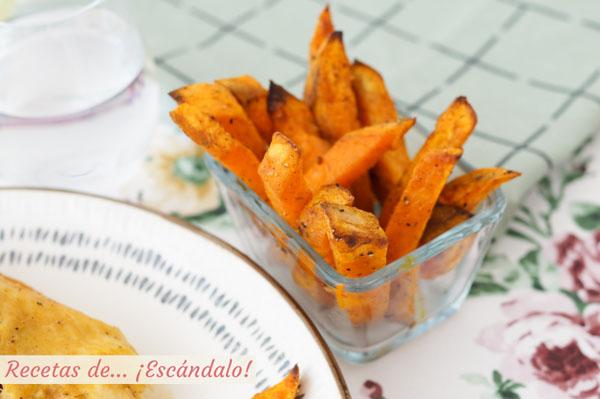Receta de boniatos o batatas al horno con especias, una guarnicion ideal