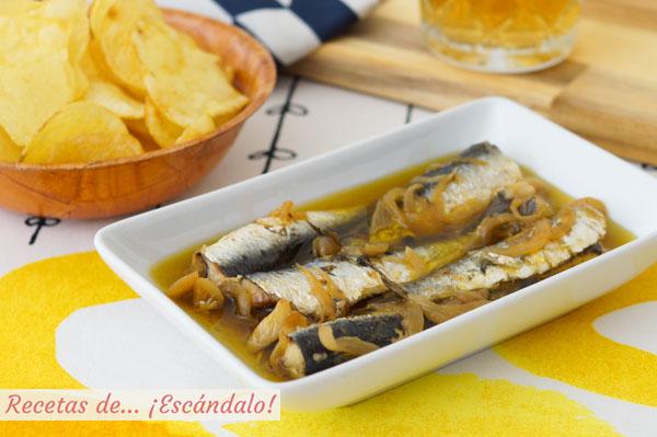 Receta de sardinas en escabeche, riquisimas y sin tener que freirlas