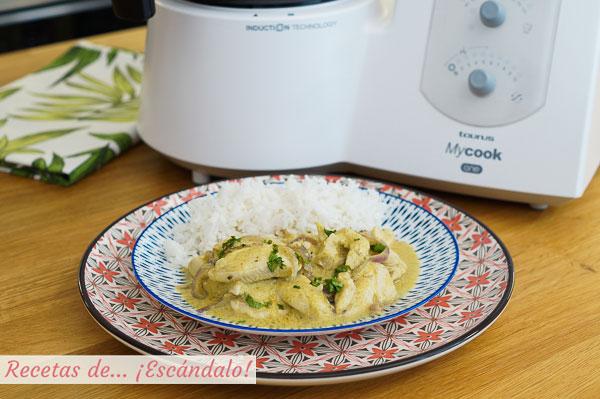 Como hacer pollo al curry tierno y muy sabroso con el robot de cocina MyCook One
