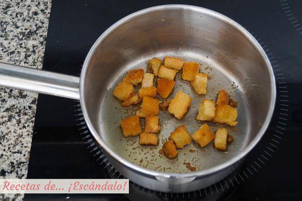 Pan tostado con aceite