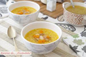 Sopa de pollo con caldo de pollo casero, irresistible
