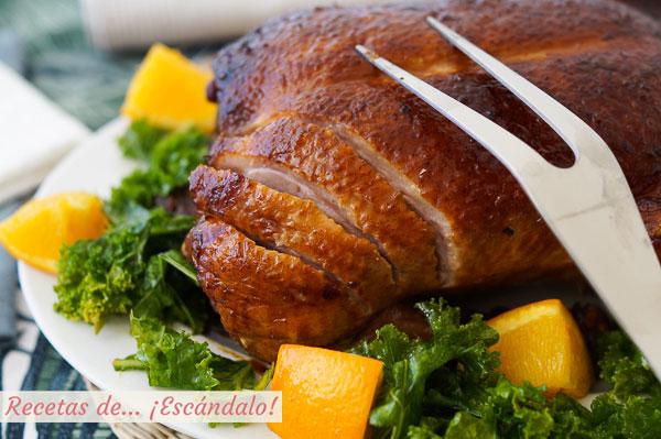 Como hacer pato a la naranja al horno