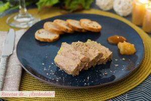Foie gras micuit de pato casero. Receta sencilla y exquisita