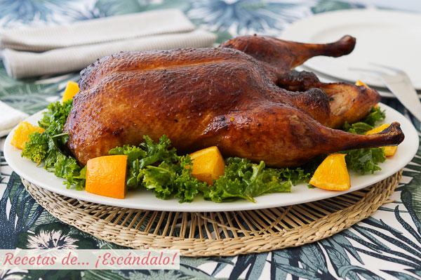 Receta de pato a la naranja al horno, facil y delicioso