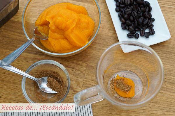 Ingredientes pumpkin spice latte