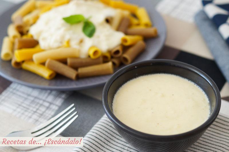 Salsa de queso con o sin nata y muy facil