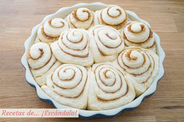 Fermentacion rollos de canela o cinnamon rolls