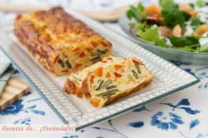 Pastel de verduras al horno, con o sin nata. Receta facil y rica
