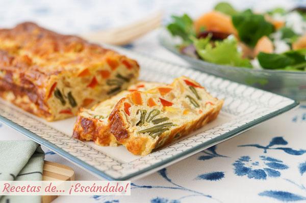 Receta de pastel de verduras al horno, con o sin nata