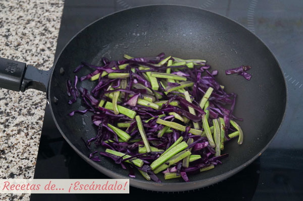Verduras para arroz salteado