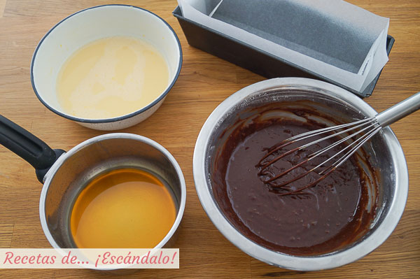 Caramelo, flan y brownie para chocoflan