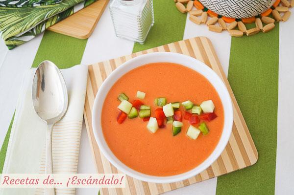 Como hacer gazpacho andaluz en Thermomix, refrescante y saludable
