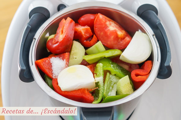 Ingredientes gazpacho thermomix