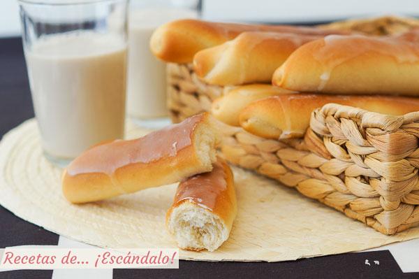 Receta de fartons caseros valencianos y horchata casera, muy facil