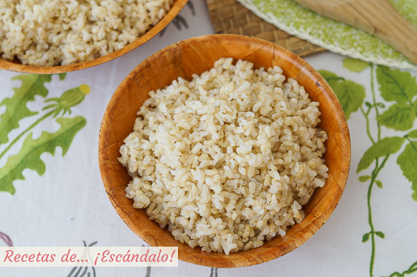 Como cocer arroz integral de guarnicion con Thermomix