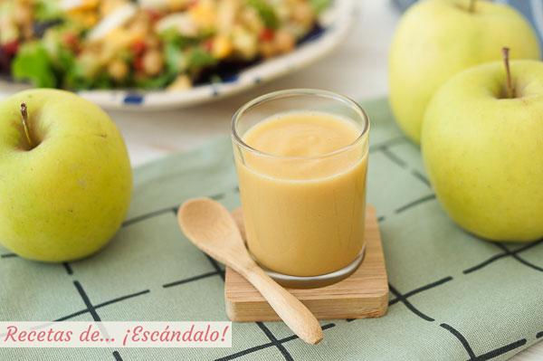 Receta de vinagreta de manzana, un alino original y delicioso para ensaladas