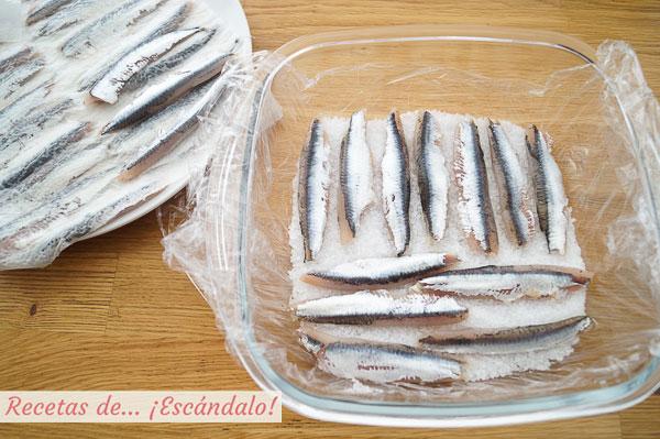 Boquerones en salazon o marinados
