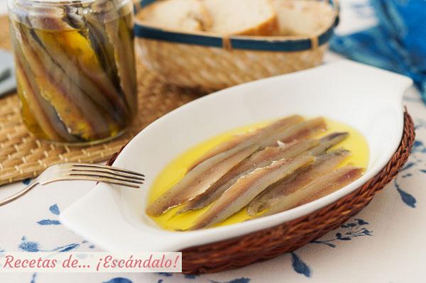 Receta de anchoas caseras en salazon, un aperitivo ideal