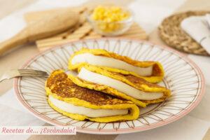 Cachapas venezolanas caseras con queso, irresistibles