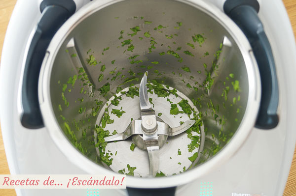 Cilantro picado thermomix