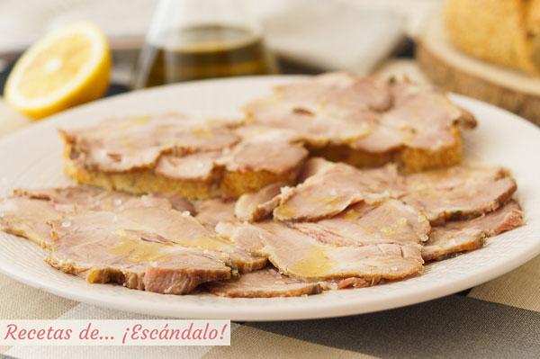 メカダの肉または伝統的なアンダルシアの肉メカのレシピ