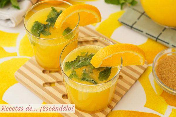 Como hacer naranjada casera, el refresco mas natural y sencillo